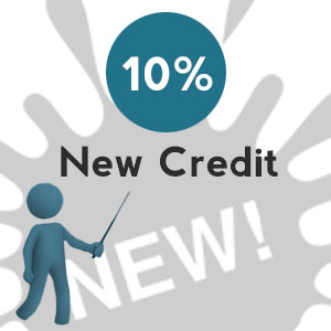New credit - 4 Tips to satisfy 10% of your credit score calculation