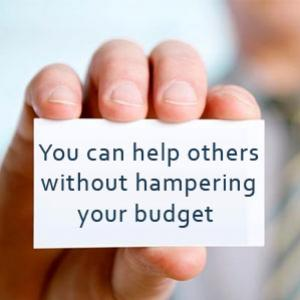How you can help others without hampering your budget