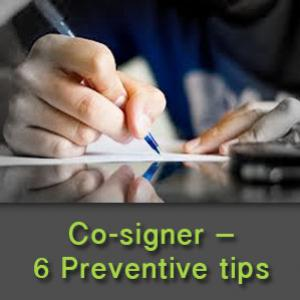 Co-signers - How they can safeguard themselves from financial mishaps