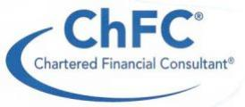 The Chartered Financial Consultant (ChFC) Certification a renowned credential in Financial Planning Sector