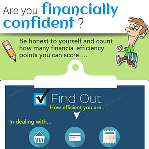 In what ways do financially confident people manage money?