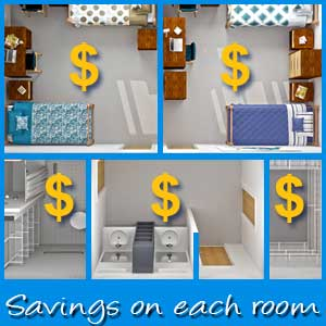 50 Smart ways to save and reduce your household cost: A room by room exploration
